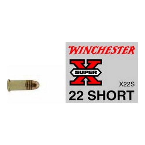Winchester Ammo SupX 22 Short Lead RN /50 X22S