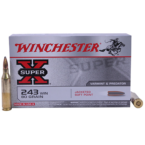 Winchester Ammo SupX 243 Win 80gr PTD SP /20 X2431