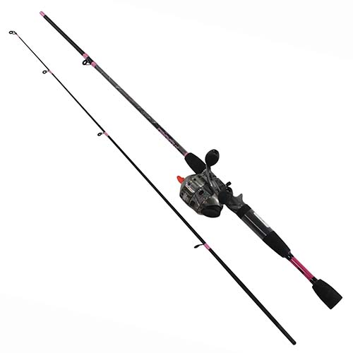 Zebco / Quantum 33 LADIES CAMO 6' 2PC MED SPINCAST COMBO 33LCAMO602M,10,NS4