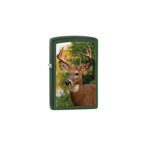 Zippo Outdoors Windproof Lighter - Deer - Green Matte 28471