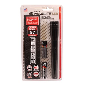 Maglite LED Mini Maglite 2-Cell AA Holster Pk Blk SP2201H