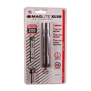 Maglite XL 50 3-Cell AAA LED Blister Pack  Gray XL50-P3069