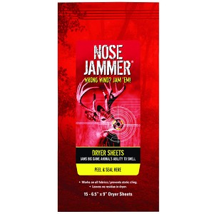 Nose Jammer Dryer Sheets, 6 Units 3165