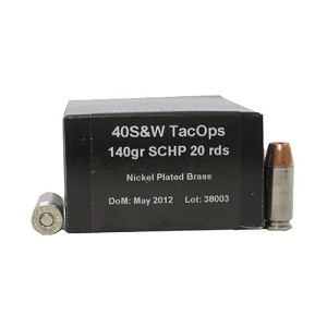 PNW Arms 40S&W TacOps 140gr Solid Copper HP /20 133-R001