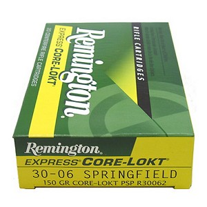 Remington 27826 30-06 150gr PSP CoreLokt R30062