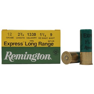 "Remington Express LR 12ga 2.75"" 1.25oz 9sh /25 SP129"