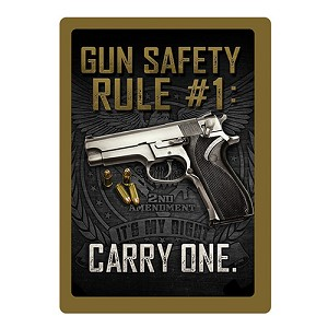 Rivers Edge Products Gun Safety #1 Tin Sign 1461