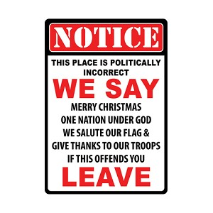 Rivers Edge Products WarningPoliticallyIncorrect TinSign 12x17 1464
