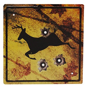"Rivers Edge Products Deer  Crossing Tin Sign 11.5"" X 11.5"" 1485"