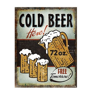 Rivers Edge Products Heavy Metal Cold Beer Sign 2207