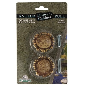 Rivers Edge Products 2 Pk Antler Drawer Knobs 657