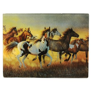 Rivers Edge Products Running Horses Cutting Board 728