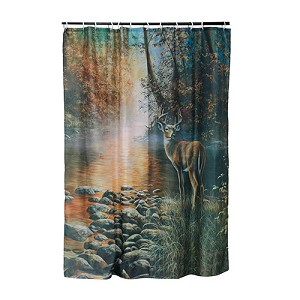 Rivers Edge Products Deer Shower Curtain 755