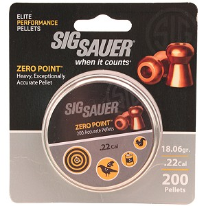 Sig Sauer .22 Pellet ZeroPoint Lead CopperPlate/200 AIR-AMMO-ZERO-LD-22-200