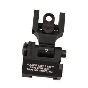 Troy Industries Rear Folding Back-Up Sight Blk SSIG-FBS-R0BT-00-GS