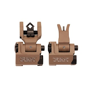 Troy Industries Md Sight Set, M4 Front & Dioptic Rear FDE SSIG-MDS-MDFT-00