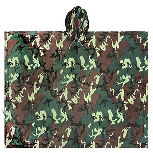 Ultimate Survival Technologies All-Weather Poncho Adult, Camo 20-RNW0018-34