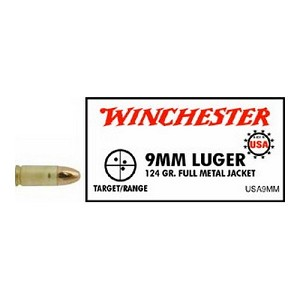 Winchester Ammo USA 9mm Luger 124gr FMJ/50 USA9MM