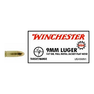 Winchester Ammo USA 9mm Luger 147gr Trun Cone USA9MM1