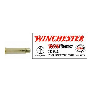 Winchester Ammo USA 357 Mag 125gr JSP WinClean WC3571