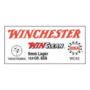 Winchester Ammo USA 9mm Luger 124gr Brass Enc/50 WC92