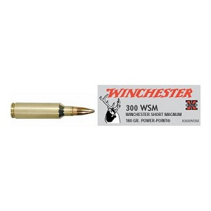 Winchester Ammo SupX 300Win ShortMag 180gr PwrPnt X300WSM
