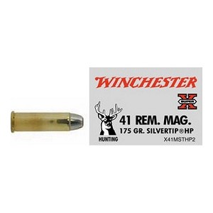 Winchester Ammo SupX 41 RemMag 175gr Silvertip HP X41MSTHP2
