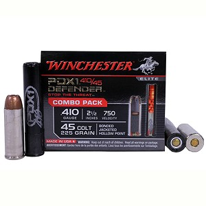 Winchester Ammo 410g(3DD/12BB)/45LC PDX1 Combo/20 S41045PD