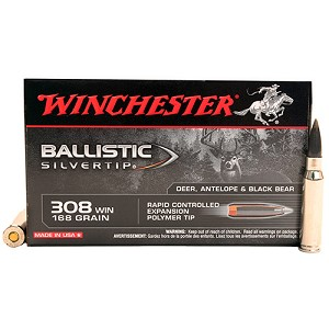 Winchester Ammo Supreme 308Win 168gr B Silvertip SBST308A