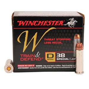Winchester Ammo W 38spl Defender 130gr JHP ReducedRcl /20 W38SPLD