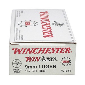 Winchester Ammo USA 9mm Luger 147gr BrassEnclose WC93