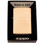 Zippo Outdoors Brushed Brass W/O Solid Brass Engraved 204B