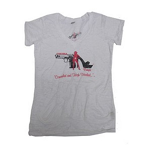 Pistols and Pumps Burnout T-Shirt Wht XL PP103-WH-XL