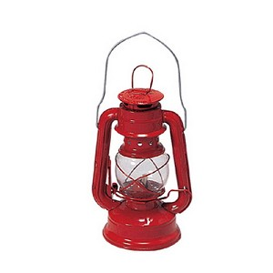 "Stansport Kerosene Hurricane Lantern 8"" Red 130"