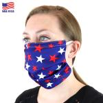 PahaQue Personal Protective Facemask Microban Red White Blue