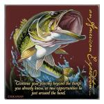 American Expedition Square Coaster - Largemouth Bass