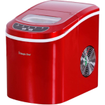 Ice Maker, 27 lbs/day, Portable, Red