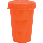 Vented Bait Jar, 1 Liter, Flour. Orange