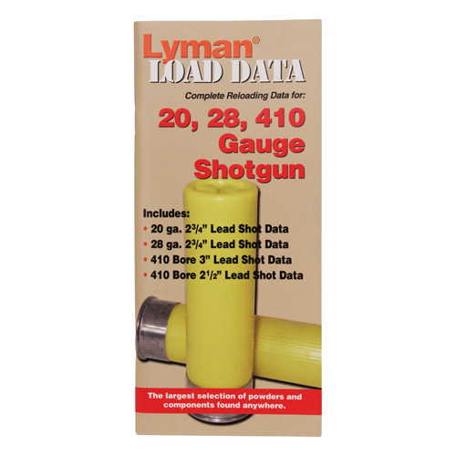 Lyman Load Data Book 16, 20 & 28 Gauge 9780002