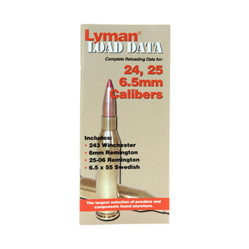 Lyman Load Data Book 24, 25, 6.5mm 9780010