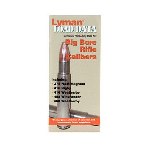 Lyman Load Data Book Big Bore Rifle 9780022