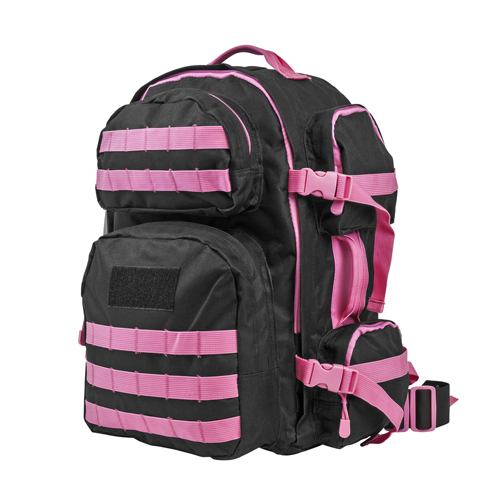NcStar Vism Tactical Backpack-Blk w/Pink CBPK2911