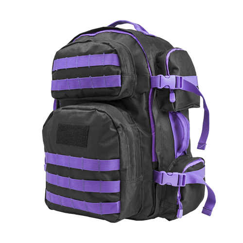 NcStar Vism Tactical Backpack-Blk w/Purple CBPR2911