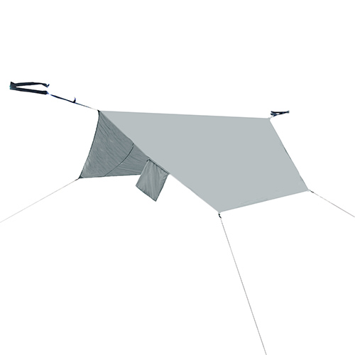 PahaQue Rainfly for Double Hammock - grey HM20R