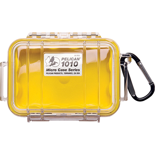 Pelican 1010 Micro Case, Clear Top Yellow 1010-027-100