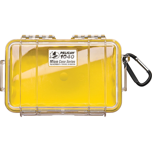 Pelican 1040 Micro Case, Clear Top Yellow 1040-027-100