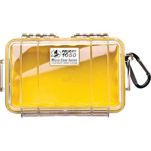 Pelican 1050 Micro Case, Clear Top Yellow 1050-027-100