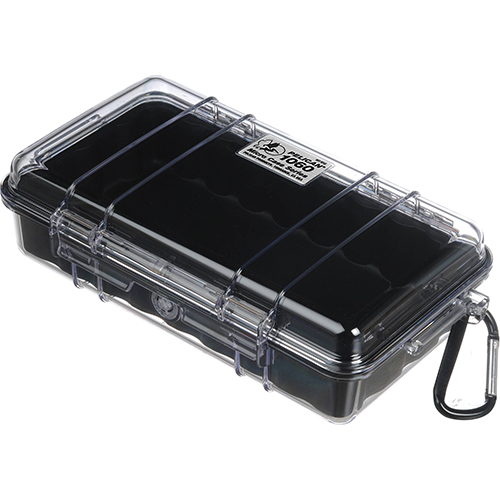 Pelican 1060, Micro Case with Clear Lid, Black 1060-025-100
