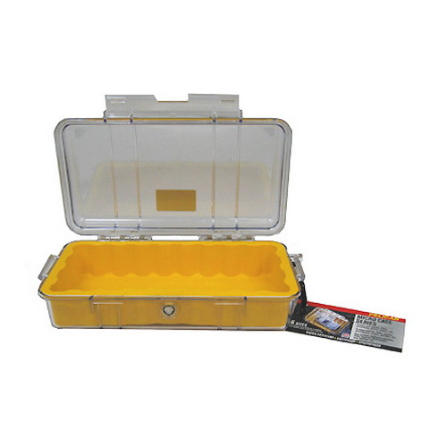 Pelican 1060 Micro Case, Clear Top Yellow 1060-027-100