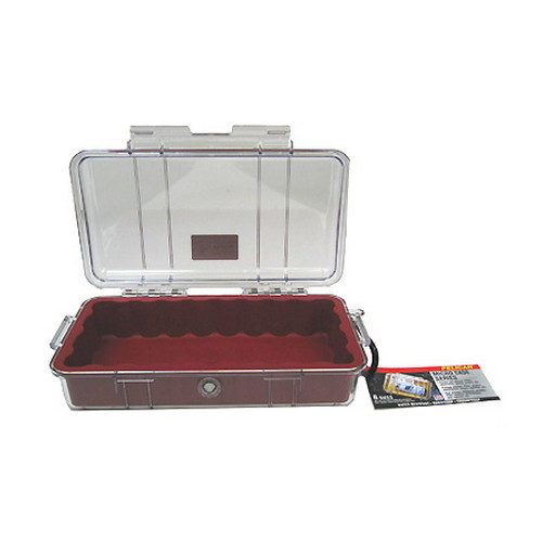 Pelican 1060 Micro Case, Clear Top Red 1060-028-100